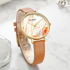 CURREN Creative Colorful Watches for Women Casual Analogue Quartz Leather Wristwatch Ladies Style Watch bayan kol saati 2019 - Slabiti