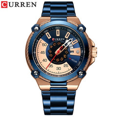 CURREN Design Watches Men's Watch Quartz Clock Male Fashion Stainless Steel Wristwatch with Auto Date Causal Business New Watch - Slabiti