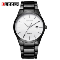 CURREN Fashion Business Calendar  Quartz Wrist Watch Stylish Men's Watch Military Waterproof Full Steel Male Clock - Slabiti