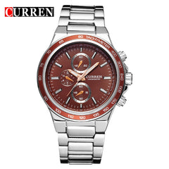 CURREN Fashion Casual Analog Military Sport Men Watch Stainless Steel Quartz Wristwatch relogio masculino Horloges Mannens Saat - Slabiti