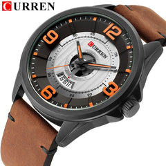CURREN Fashion&Casual Business Wristwatches Leather Strap Quartz Mens Watches Display Date Clock Hodinky Relogio Masculino - Slabiti