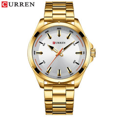 CURREN Fashion Men's Watch with Stainless Steel Strap Simple Creative Quartz Wristwatch for Men Clock erkek kol saati Waterproof - Slabiti