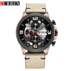 CURREN Fashion style Quartz Men Watches Chronograph Men Sports Wristwatch Waterproof Male Clock Relogio Masculino Reloj Hombre - Slabiti