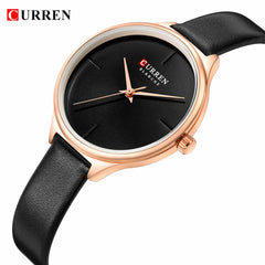 CURREN Ladies Watches Minimalist Wrist Watch for Women Casual Fashion Leather Strap Quartz Female Clock Simple Classy Watch - Slabiti