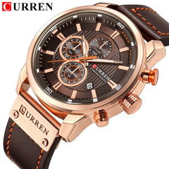 CURREN Luxury Brand Men Military Sport Watches Men's Quartz Clock Leather Strap Waterproof Date Wristwatch Reloj Hombre - Slabiti