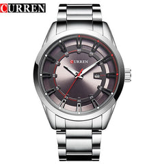 CURREN Luxury Casual Men Watches Analog Military Quartz Male Clock Stainless Steel Band Business Date Wristwatch Reloj Hombre - Slabiti