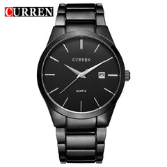 CURREN Luxury Classic Fashion Business Men Watches Display Date Quartz-watch Male Wristwatch Full Steel Clock relogio masculino - Slabiti