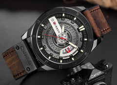 CURREN Men Military Sports Watches Men's Quartz Date Clock Man Casual Leather Wristwatches  Relogio Masculino - Slabiti