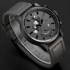 CURREN Men's Casual Sport Quartz Watch Mens Watches Top Brand Luxury Quartz-Watch Leather Military Watch Wrist Male Clock Drop - Slabiti