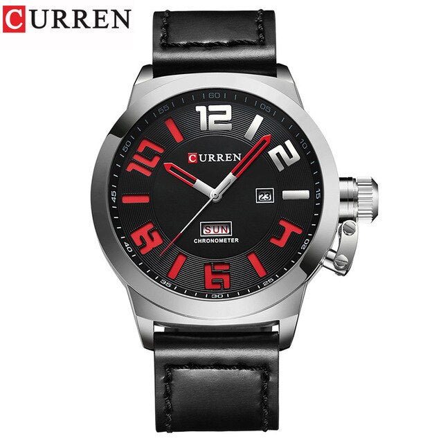 CURREN Mens Watches Top Brand Luxury Sport Quartz-Watch Leather Strap Clock Men Waterproof Wristwatch relogio masculino - Slabiti