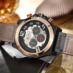 CURREN New Brand Luxury Fashion Casual Leather Men's Watch Stylish Sports Quartz Male Clock Chronograph Relojes Hombre - Slabiti