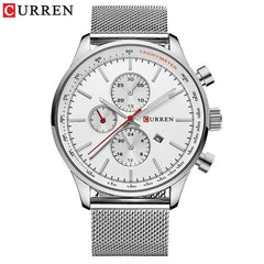 CURREN New Brand Luxury Fashion Casual Sports Men Watches Stainless Steel Business Wristwatch Date Male Clock Relogio Masculino - Slabiti