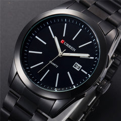 CURREN New Fashion Men Watches Full Steel Wristwatch Classic Business Male Clock Casual Military Quartz Calendar Watch Reloj - Slabiti
