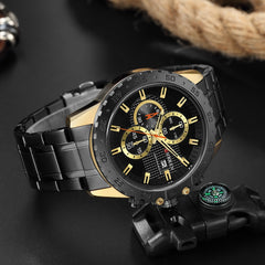 CURREN Sporty Watches Fashion Quartz Mens Watch New Luxury Stainless Steel Wristwatch Chronograph Sport Clock Male Reloj Hombres - Slabiti