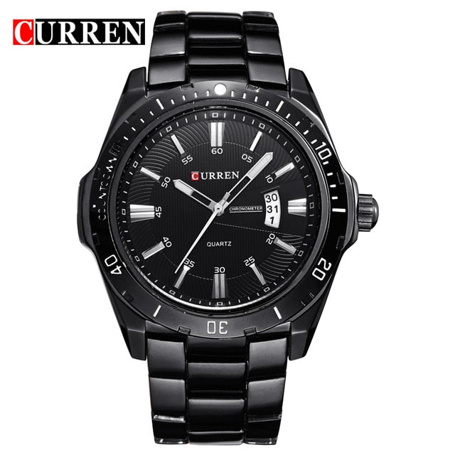 CURREN Top Brand Luxury Fashion&Casual Business Quartz Men Watches Display Date Full Steel Band Wristwatch Male Clock Relojes - Slabiti