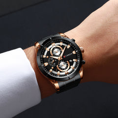 CURREN Top Brand Luxury Men Watches Sporty Stainless Steel Band Chronograph Quartz Wristwatch with Auto Date Relogio Masculino - Slabiti