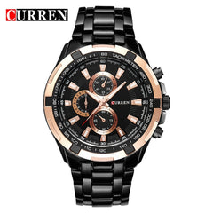 CURREN Watches Men Top Brand Luxury Fashion&Casual Quartz Male Wristwatches Classic Analog Sports Steel Band Clock Relojes - Slabiti
