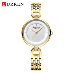 CURREN Women's Watches Quartz Watches Stainless Steel Clock Ladies Wristwatch Top Brand Luxury Watches Women Relogios feminino - Slabiti