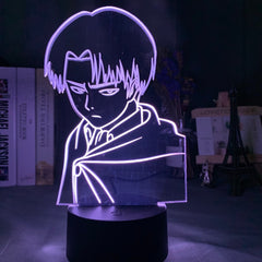 Captain Levi Ackerman Figure Led Night Light for Kids Child Bedroom Decor Nightlight Colorful Table Lamp Attack on Titan Gift - Slabiti