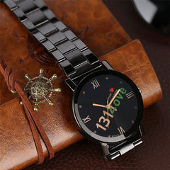"Couple Watches ""520 1314 Love"" Design Men Watches Ladies Steel Metal Wristwatch Quartz Timepieces Top Gifts for Lovers' - Slabiti"