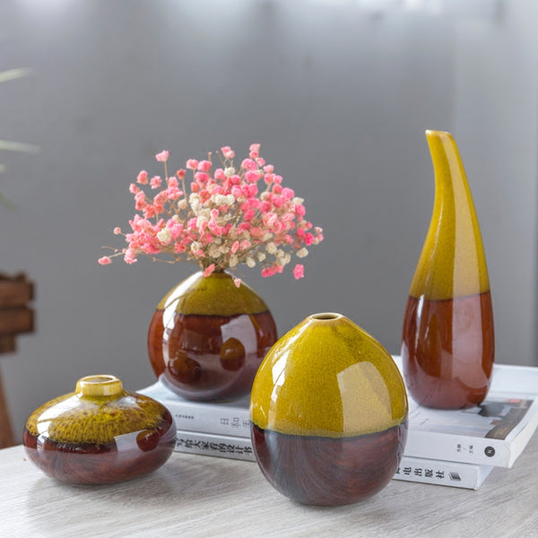 Creative Classic Ceramic Vase Mini Hydroponics plant Vases for flowers decoration home flower pot decor accessories modern