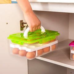 Creative Egg Container Storage Box Double-layer egg Basket Food Organizer Home Kitchen Gadgets Items Accessories Supplies Cases - Slabiti