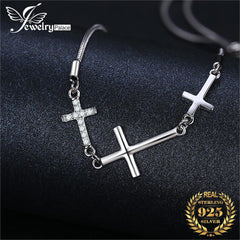 Cross Love Bracelet 925 Sterling Silver Bracelet Snake Chain Bolo Bracelets For Women Silver 925 Jewelry Making Organizer - Slabiti