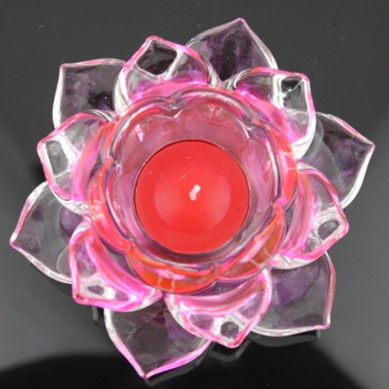 Crystal Lotus Candle Holders Feng Shui Bowl Candlestick For candelabra centerpieces Wedding Home Bar Party Decoration