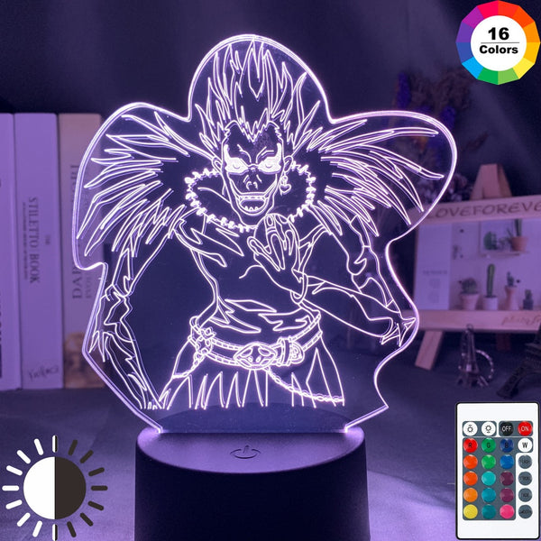 Death Note Kids Night Light Led Color Changing Nightlight for Room Decoration Japanese Manga Gift 3d Illusion Lamp Ryuk Figure - Slabiti