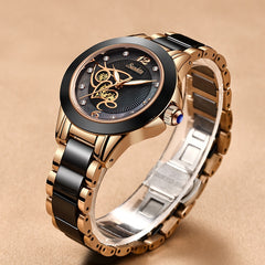Diamond Surface Ceramic Strap Watch SUNKTA Fashion Waterproof Women Watches Top Brand Luxury Quartz Watch Women Relogio Feminino - Slabiti