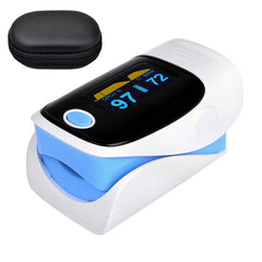 Digital finger oximeter, OLED pulse oximeter display pulsioximetro SPO2 PR oximetro de dedo,oximeter a finger with carrying case - Slabiti