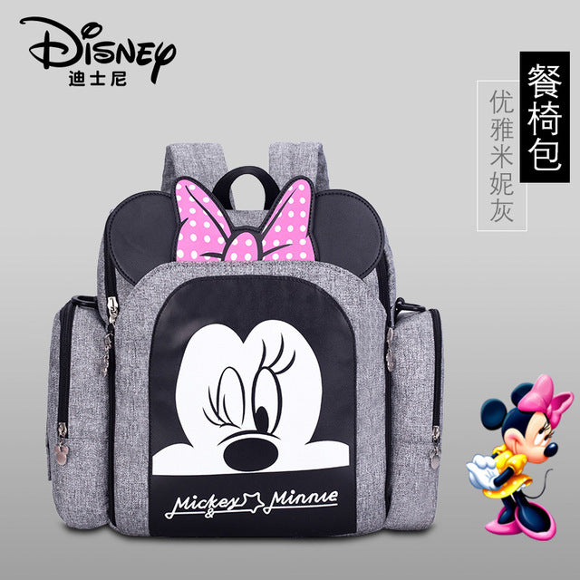Disney Dining Chair Bag Multifunctional Diaper Bag 2019 New Stlye Waterproof Mother Handbag Nappy Backpack Travel Mummy Bags - Slabiti