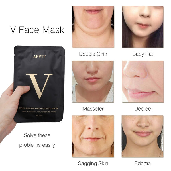 Double V Lift Facial Mask Shape Slim Chin Check Neck Lift Peel-off Mask V Shaper Facial Slimming Bandage Mask Skin Care beauty - Slabiti