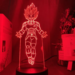 Dragon Ball Lamp Goku Figure Child Bedroom Decor Nightlight Cool Kids Birthday Gift Anime Gadget Led Night Light 3d Illusion - Slabiti