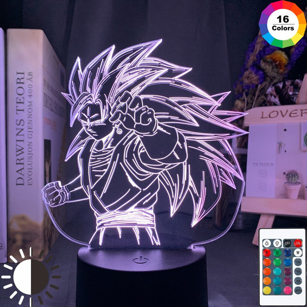 Dragon Ball Night Light 3d Illusion Goku Figure Nightlight for Kids Bedroom Decoration Cool Led Table Lamp Anime Gift for Him - Slabiti