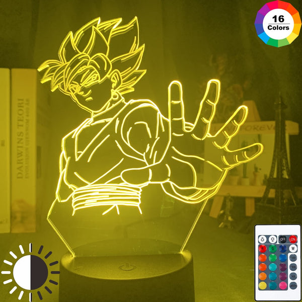 Dragon Ball Super Goku Black Figure Night Light Led Touch Sensor Colorful Nightlight for Kids Child Bedroom Decor Lamp Zamasu - Slabiti