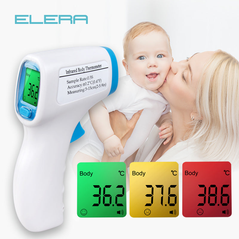 ELERA Baby Forehead Thermometer Digital Temperature Measurement  Non-Contact IR Body Fever Infrared Thermometer Gun Baby Kids - Slabiti