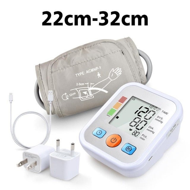 ELERA Digital Blood Pressure Monitor Upper Arm Tonometer Portable Blood pressure meter Automatic Sphygmomanometer Tensiometro - Slabiti