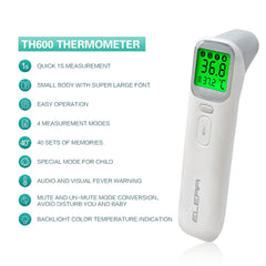 ELERA Digital Infrared Baby Thermometer Non-Contact thermometer for Baby Fever measurement multifunctional Temperature Monitor - Slabiti
