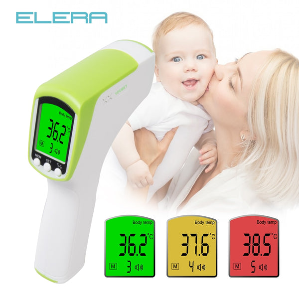 ELERA Multi-function Baby Child Digital Thermometer Baby Infrared Forehead Fever Body Thermometer Gun Non-contact Temperature - Slabiti