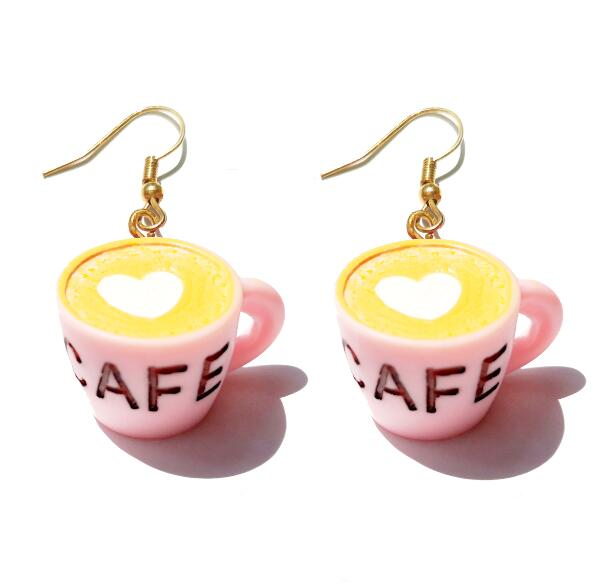 Earring For Women Resin Drop Custom Made Handmade Cute Girls Gift Eardrop Eardrop Coke Cola Coffee Drink Funny - Slabiti