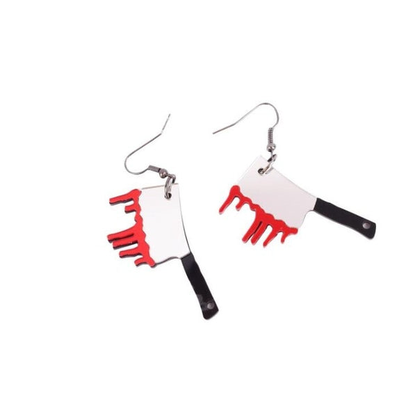 Earrings For Women Girls Cartoon Funny Cute Horror Zombies Taro Bats Ghost Dark Christmas Gifts Halloween - Slabiti