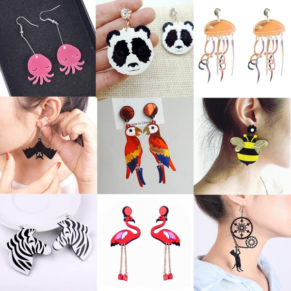 Earrings For Women Kelly Earrings Fashion Charm Exaggerated Eardrop Trendy Dangler Hip Hop Girls Jewelry Gift Cute Sweet Animals - Slabiti