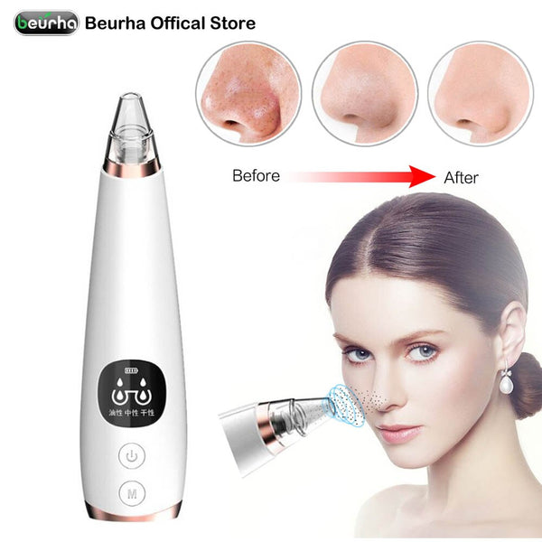 Electric Acne Remover Point Noir Blackhead Vacuum Extractor Tool Black Spots Pore Cleaner Skin Care Facial Pore Cleaner Machine - Slabiti
