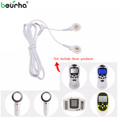 Electrode Tens Cable Conductive Line 2 Ways Wire for Electrode Pads Gloves Digital Tens Massage Machine Body Meridian Therapy - Slabiti
