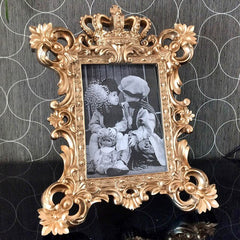 Europe Creative photo frame resin glass photo frames table top Wedding photography props crown  photo frame Home decoration - Slabiti