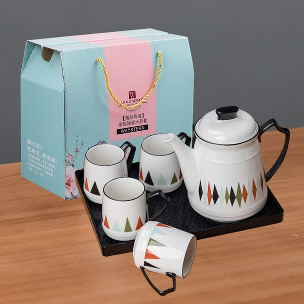 Europe tea cup set water cups Mug Cold kettle with high temperature cup coffee set porcelain teaTeapot Teatime Afternoon