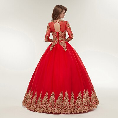 Fansmile Vestido de Novia Vintage Lace Red Train Ball Wedding Dresses 2020 Customized Plus Size Bridal Wedding Gown FSM-362F/T - Slabiti