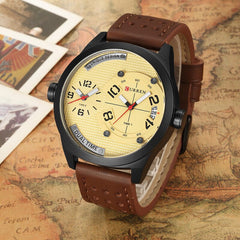 Fashion Brand CURREN Business Wrist Watch Casual Quartz Men's Watch Leather Strap Clock Relogio Masculino Horloges Mannens Saat - Slabiti