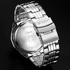 Fashion Full Stainless Steel Watches For Men CURREN Casual Quartz Mens Wrist Watch Waterproof Male Clock Gentleman Relojes Gift - Slabiti